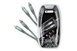 Kabel 2RCA-2RCA 1.0m audio Cabletech Silver Edition